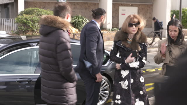 Anna Wintour arriving at Balenciaga at Celebrity Sightings in Paris on March 06 2016 in London England