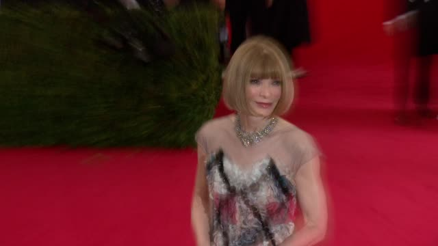 Anna Wintour at 'Charles James Beyond Fashion' Costume Institute Gala Arrivals at The Metropolitan Museum on May 05 2014 in New York City