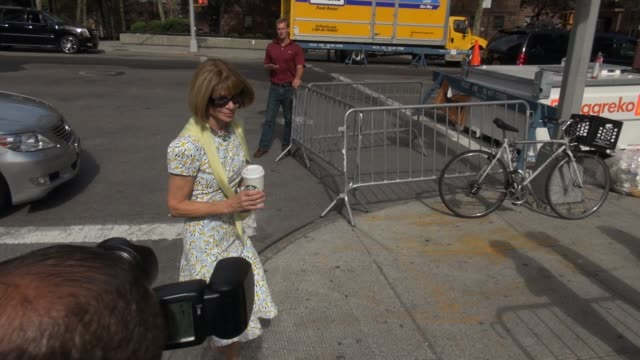 Anna Wintour at Lincoln Center outside MercedesBenz Fashion Week Spring 2015 on September 08 2014 in New York City