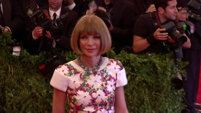 Anna Wintour at 'PUNK Chaos To Couture' Costume Institute Gala at Metropolitan Museum of Art on May 06 2013 in New York New York