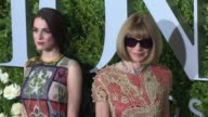 Anna Wintour Bee Shaffer at 2017 Tony Awards Red Carpet at Radio City Music Hall on June 11 2017 in New York City