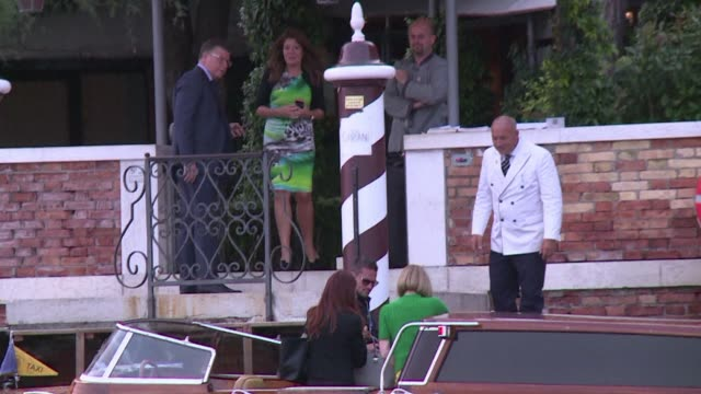 Anna Wintour Vogue editor in chief of American Vogue arrives at Hotel Cipriani in Venice ahead of George Clooneys wedding to Amal Alamuddin his...
