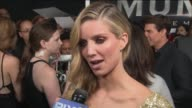 WPIX Annabelle Wallis talks about Doing Her Own Stunts in 'The Mummy' Movie at the premiere of the movie The Mummy on June 6 2017 at AMC Loews...