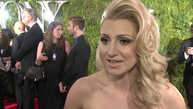 INTERVIEW Annaleigh Ashford on being nominated for a Tony and being excited for the evening at 2015 Tony Awards Arrivals at Radio City Music Hall on...