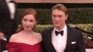 Annalise Basso and George MacKay at 23rd Annual Screen Actors Guild Awards Arrivals at The Shrine Expo Hall on January 29 2017 in Los Angeles...