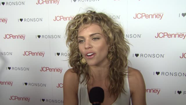 Annalynne McCord on attending tonight's event and on Charlotte Ronson and JCPenny being a good partnership at the Charlotte Ronson Dinner at Los...