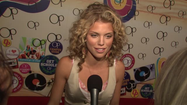 AnnaLynne McCord on shooting the campaign and what she likes about Op at the 'OPen Campus' New OP Campaign Launch Party at Los Angeles CA