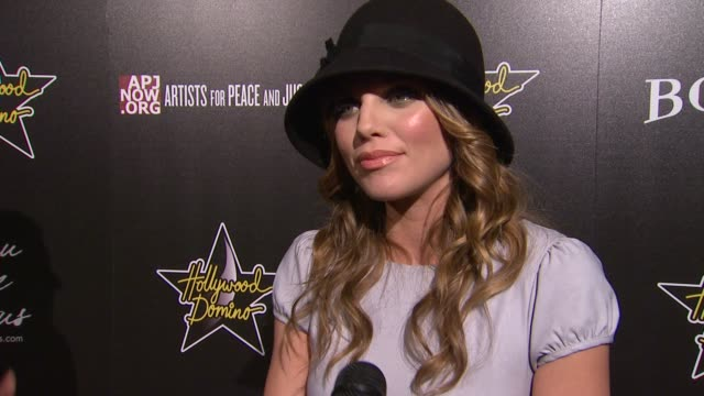 AnnaLynne McCord on why she's attending the event at 5th Annual Hollywood Domino Gala Presented By Bovet 1822 Benefitting Artists For Peace And...