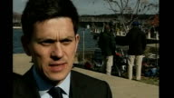 David Miliband MP interview SOT talks of ongoing engagement from Bush Rice final decisions having to be taken by leaders of Israel and Palestinian...