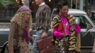 AnnaSophia Robb and Freema Agyeman on location for 'The Carrie Diaries' in New York NY on 10/26/12
