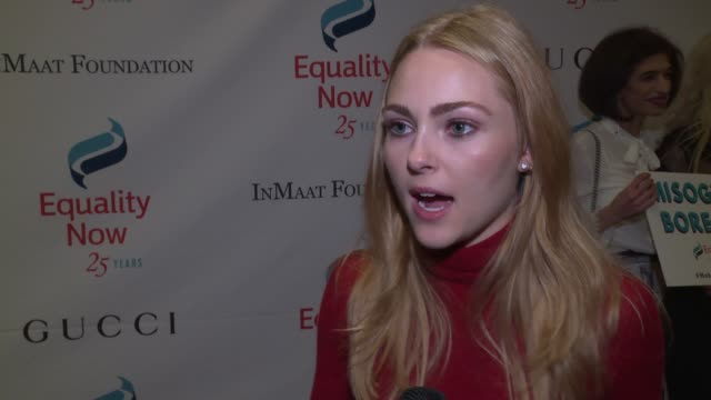INTERVIEW AnnaSophia Robb on being in the presence of Gloria Steinem at 2017 Equality Now Gala at Gotham Hall on October 30 2017 in New York City