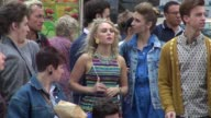 AnnaSophia Robb shooting on location for 'The Carrie Diaries' in New York NY on 8/27/13