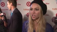 AnnaSophia Robb talks about the 'shoppable short' concept on what she is wearing at Target 'Falling For You' Event at Terminal 5 on October 10 2012...