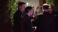 Anne Hathaway Adam Shulman depart Chanel Charles Finch Pre Oscar Dinner at Madeo LA Celebrity Sightings in Los Angeles on March 01 2014 in Los...