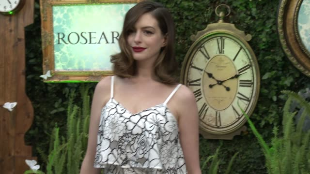 Anne Hathaway at 'Alice Through The Looking Glass' Event At Roseark at Roseark Gallery on May 12 2016 in Los Angeles California
