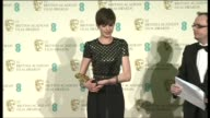 Anne Hathaway at EE British Academy Film Awards 2013 Winners Room at The Royal Opera House on February 10 2013 in London England