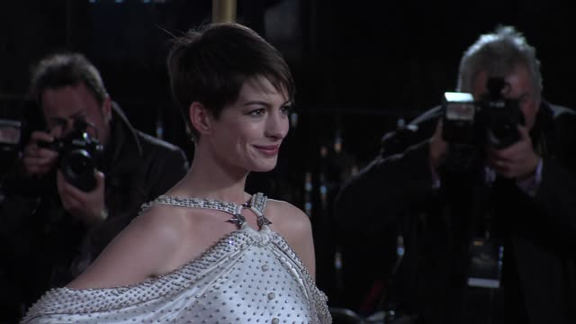 Anne Hathaway at the World Premiere of Les Miserables at the Odeon Leicester Square on December 5 2012 in London England