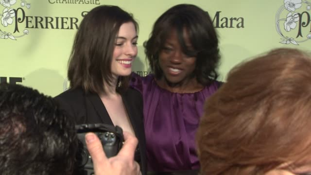 Anne Hathaway Viola Davis at the 2nd Annual Women in Film PreOscar Cocktail Party at Los Angeles CA