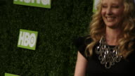 TU Anne Heche and James Tupper posing and kissing for paparazzi on the green carpet