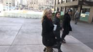 Anne Heche arrives at SiriusXM Satellite Radio poses for photos with fans in Celebrity Sightings in New York