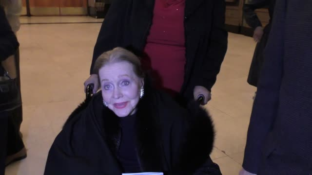 Anne Jeffrey sings a little of her favorite Christmas song outside the King And I play at the Pantages Theatre in Hollywood in Celebrity Sightings in...