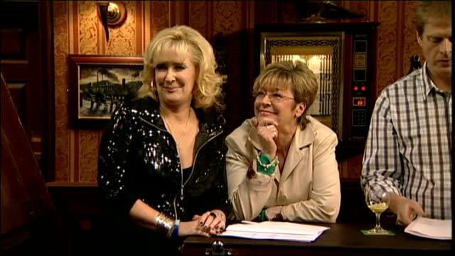 Anne Kirkbride on set of Coronation Street Showing Interior shots of Actress Anne Kirkbride on set of Coronation Street on February 4th 2010 in...
