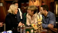 Anne Kirkbride on set of Coronation Street with Camilla Duchess of Cornwall Showing Internal shots Actress Anne Kirkbride talking to Camilla Parker...