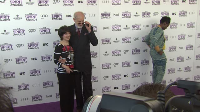 Anne Ulvestad and James Cromwell at the 2012 Film Independent Spirit Awards Arrivals on 2/25/12 in Santa Monica CA United States