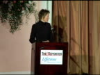 Annette Bening outlines her keynote speech at the Hollywood Reporter's Annual Women in Entertainment Power 100 Breakfast at the Beverly Hilton in...