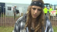 INTERVIEW Annie Eve on being at Glastonbury at Glastonbury Festival Site on June 27 2014 in Glastonbury England