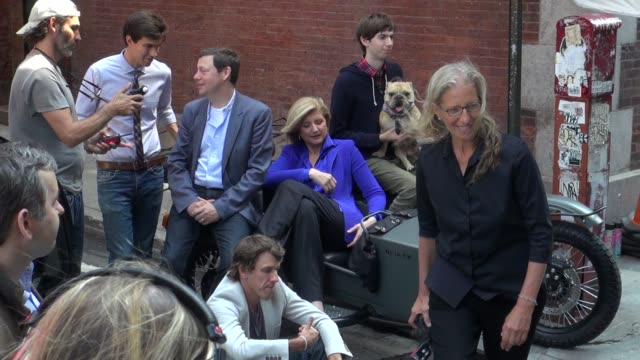 Annie Leibovitz and Arianna Huffington on the set of her photo shoot in New York 07/30/12