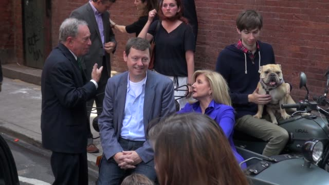 Annie Leibovitz and Mayor Bloomberg on the set of her photo shoot in New York 07/30/12