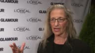 Annie Leibovitz on what it means to be honored tonight on bringing her 11 year old daughter with her at Glamour Magazine's 22nd Annual Women Of The...