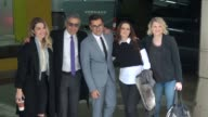 Annie Murphy Eugene Levy Daniel Levy Emily Hampshire Jennifer Robertson arrive at AOL and pose for photographers in Celebrity Sightings in New York
