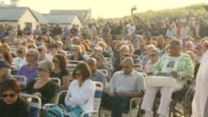 Annual Beachside Ceremony at Point Lookout to Remember Those Lost at Ground Zero A Crowd Holds a Moment of Silence for Victims on September 11 2013...