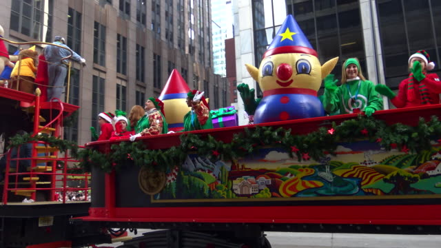 Annual Macy's Thanksgiving Day Parade via Manhattan New York City USA / Charlie Elf Kit Elf and CJ Elf