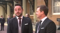 Ant and Dec receive OBEs Ant and Dec interview SOT