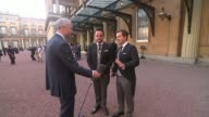 Ant and Dec receive OBEs Buckingham Palace EXT Ant and Dec interview SOT