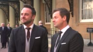 Ant and Dec receive OBEs EXT Ant and Dec interview SOT