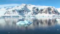 antarctica tracking shot in full sun