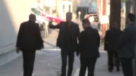 Anthony Bourdain greets fans while departing the Jimmy Kimmel Studio Hollywood in Celebrity Sightings in Los Angeles
