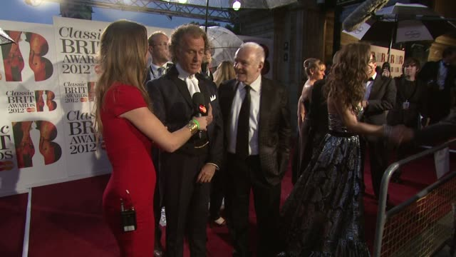 Anthony Hopkins Andre Rieu at Classic Brit Awards 2012 at Royal Albert Hall on October 02 2012 in London England