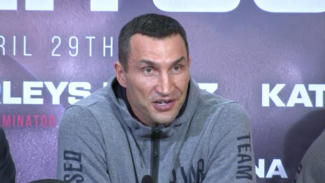 Anthony Joshua and Wladimir Klitschko prematch press conference Rob McCracken gives his thoughts SOT / Wladimir Klitschko SOT / SOT Anthony Joshua...