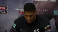 Anthony Joshua and Wladimir Klitschko press conference and interviews Wladimir Klitschko Anthony Joshua Eddie Hearn press conference SOT