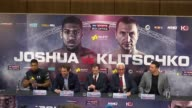 Anthony Joshua and Wladimir Klitschko press conference and interviews ENGLAND London Wembley PHOTOGRAPHY*** Wladimir Klitschko into press conference...