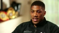 Anthony Joshua beats Wladimir Klitschko Anthony Joshua beats Wladimir Klitschko London INT Anthony Joshua interview SOT very intense fight/ fight was...