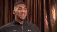 London INT Anthony Joshua interview SOT