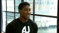 Anthony Joshua makes professional debut **Joshua interview partly overlaid SOT** Emanuele Leo chatting Joshua interview SOT