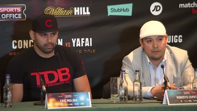 Anthony Joshua press conference and interview Anthony Joshua Eddie Hearn Eric Molina and Roberto Zapata press conference SOT