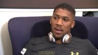 Joshua prepares for contest Anthony Joshua v Wladimir Klitschko Joshua prepares for contest Joshua interview SOT Joshua and Klitschko posing for...